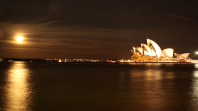 Full Moon at the Sydney Opera