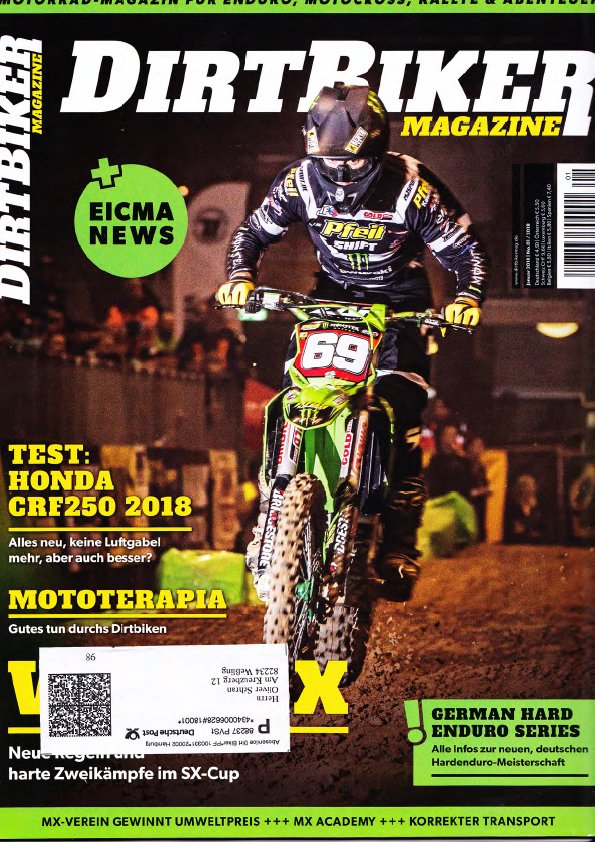Cover of Dirt Biker Issue of the coverage