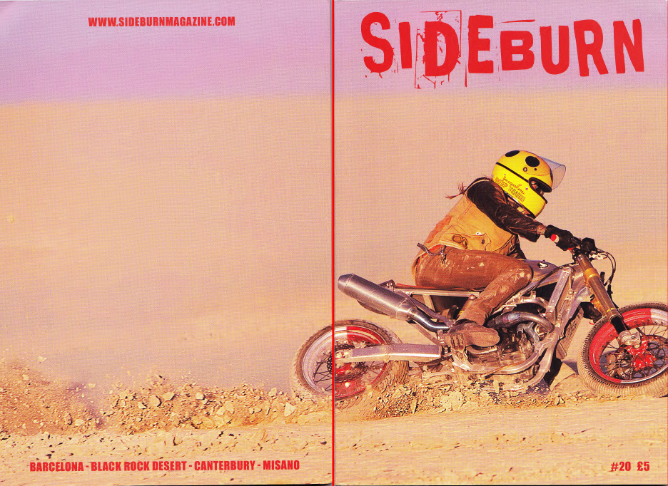 Sideburn Mag - Drake McElroy Story - Front & Back Cover